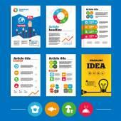 Brochure or flyers design — Stock Vector