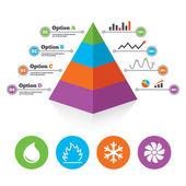 Pyramid chart template. — Stock Vector
