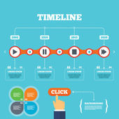 Timeline with arrows and quotes. — Stock Vector