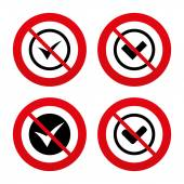 Check signs. Checkbox confirm icons. — Stock Vector
