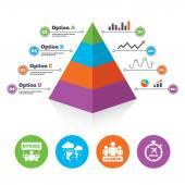 Pyramid chart template. — Stockvector