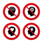 No, Ban or Stop signs — Stock Vector