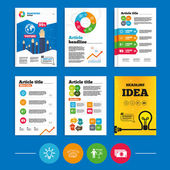 Presentation billboard, brainstorm. — Stockvector