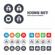 Couple love icons — Stock Vector #74759155