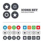 Star of David icons. — Stock Vector