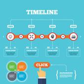 Lamp idea. Graph chart diagram. — Stockvector