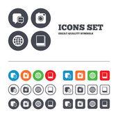 Social media icons. — Stock Vector