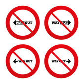 Way out icons. — Stock Vector