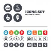 You are here icons. — Stock Vector