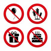 Birthday party icons. — Stock Vector