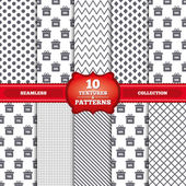 Sale gift box tag icons — Vetor de Stock