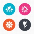 Flowers icons. Bouquet of roses symbol. — Stock Vector #75654227