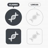 DNA sign icons — Stock Vector