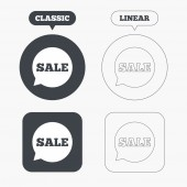 Sale sign icons — Stock Vector