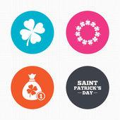 День Святого Патрика значки. — Cтоковый вектор