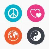 World globe icons — Stock Vector