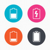 Battery charging icons. — Stock Vector