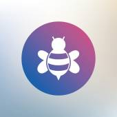 Bee sign icon. — Stock Vector