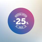 25 percent discount sign — Stock Vector
