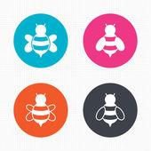 Honey bees icons. — Stock Vector