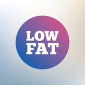 Low fat sign icon. — Stock Vector