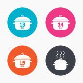 Cooking pan icons. — Stock Vector
