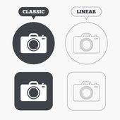 Символы знака фотоаппарата — Cтоковый вектор