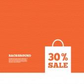 30-процентный мешок продаж — Cтоковый вектор