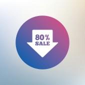 80 Prozent Verkauf Pfeil — Stockvektor