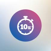 Timer 10s sign icon. — Stock Vector