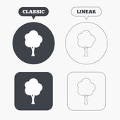 Tree sign icons — Stock Vector