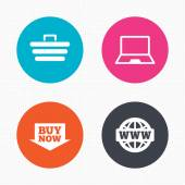 Online shopping icons. — Stock Vector