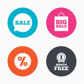 Sale speech bubble icons — Stock Vector