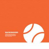 Tenisový míč znamení ikona. — Stock vektor