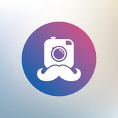 Hipster photo camera sign icon. — Stock Vector