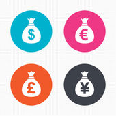 Money bag icons. — Stock Vector