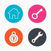 Home key icons — Stock Vector