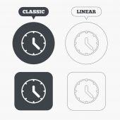 Icone del segno di orologio — Vettoriale Stock