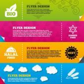 Natural Bio food icons. — Stock Vector
