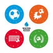 Football icons. Soccer ball sport. — Stock Vector