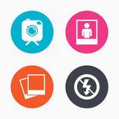 Photo camera icons — Stock Vector
