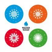 Snowflakes artistic icons. — Wektor stockowy