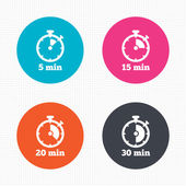 Timer icons. Five minutes stopwatch — Stock Vector