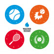 Tennis ball and racket icons. — Stock Vector #78738496