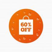 60 procent verkoop tas — Stockvector