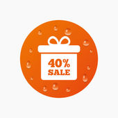 40 percent sale gift box — Stock Vector