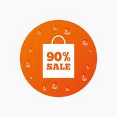 Bolsa de venta de 90 por ciento — Vector de stock