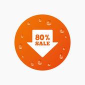 80 procent verkoop pijl — Stockvector