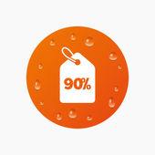 90 procent verkoopprijs — Stockvector