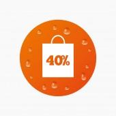 40 procent verkoop tas — Stockvector
